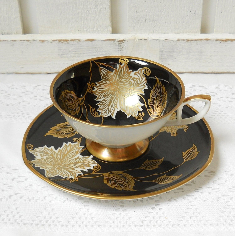 vintage tea cup and saucer german porcelain tea cups teacup. Black Bedroom Furniture Sets. Home Design Ideas