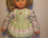 Pink Rose Pinafore Dress for modern dolls and American Girl Dolls