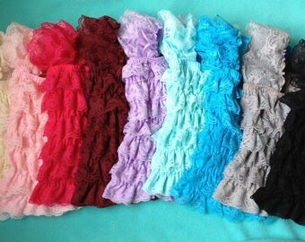 Pick One girl lace posh petti ruffle tank top S M L XL available for baby, toddler and  girl