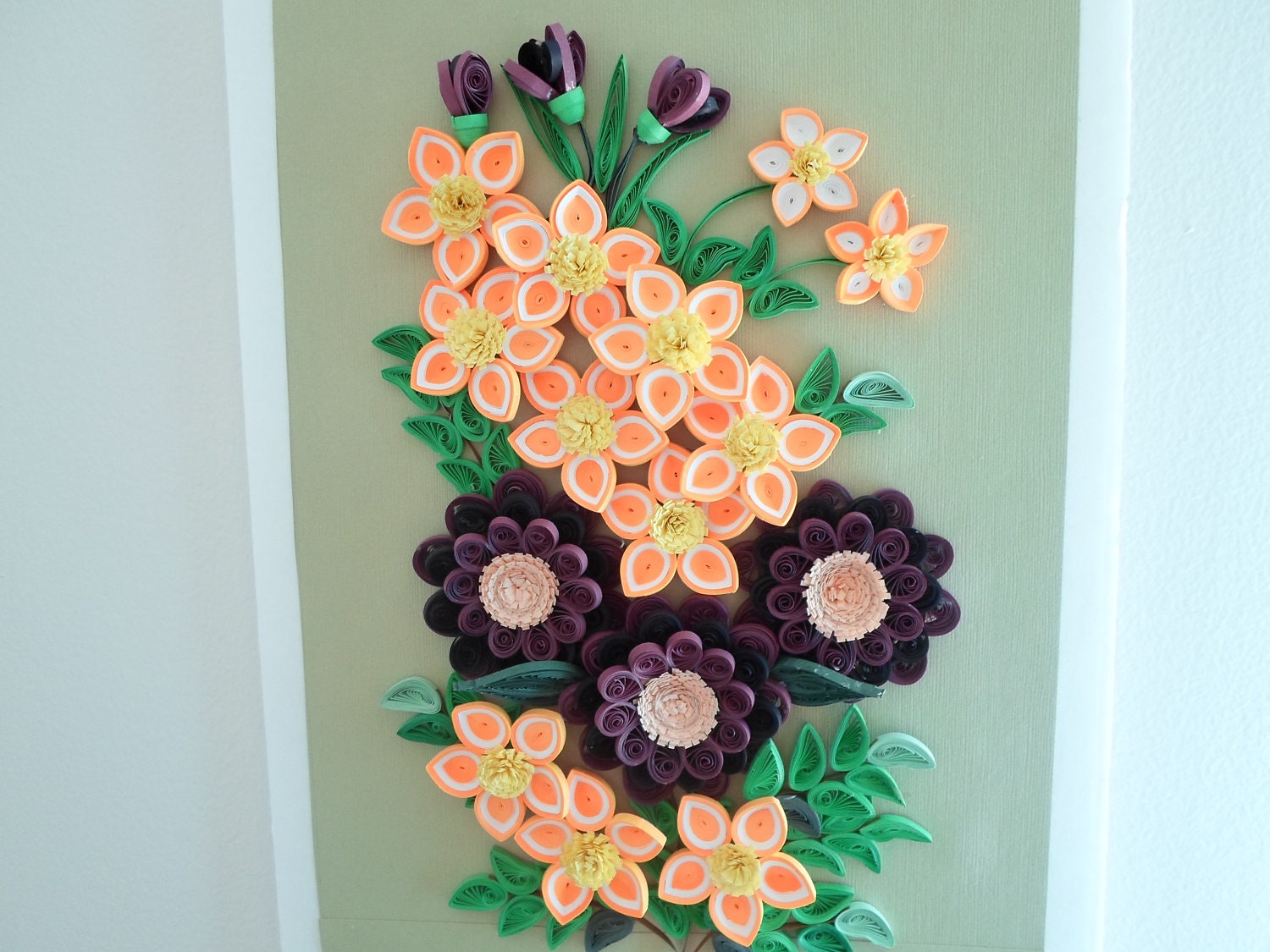 Unavailable listing on etsy for 3d flowers for wall decoration