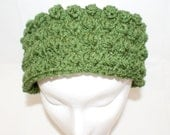 Green Headband, Fashion Headband, Women's Headband, Ear Warmer Headband, Crochet Hairband, Crochet Ear band, Ski Headband, Earwarmers