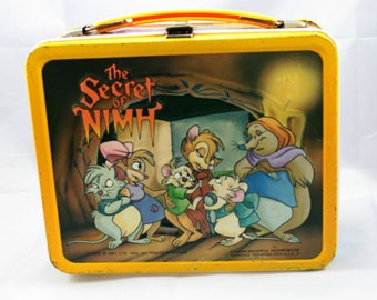 Vintage Secret Of Nimh Lunchbox