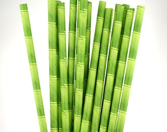 Green Bamboo Paper Straws