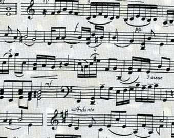 Timeless Treasures fabric MUSICAL NOTES