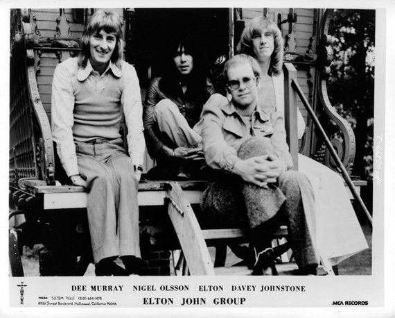 Elton John Group Publicity Photo     8 by 10 inches
