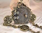 Fairy Door Locket, Garden Door Necklace, Fairy Circle Necklace, Celtic Medallions