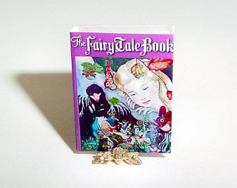 Miniature FAIRY TALE BOOK, Adrienne Segur, 1958 - Dollhouse Miniature 1/12 Inch Scale Fairytale Picture Book Childrens Dollhouse Accessory