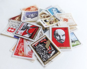 Vintage Hungarian Stamps 1960s Magyar Posta Eastern Europe Stamps Collectable Set of 23