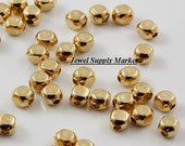 30pcs-4mm small gold plated, square beads, spacers, cube, earrings, necklace