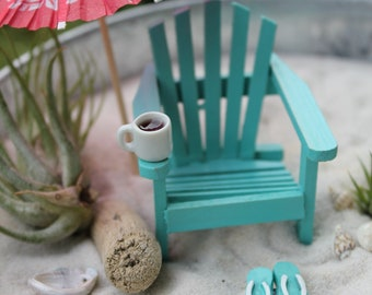 Miniature Morning on the Beach with COFFEE FOR TWO - by Landscapes In Miniature