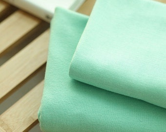 Solid Cotton Jersey or Ribbing Knit Fabric for Binding Necklines, Cuffs, Armholes - Mint - By the Yard 38336