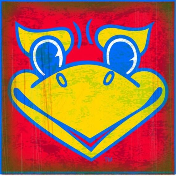 Ku Coaster Collection Jayhawk Face Red Ku 26 Single Stone