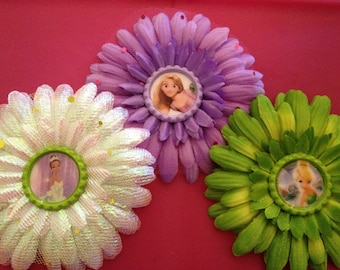 Princess Flower Clip U Pick One