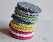 Crochet eco-friendly make up remover pads - Dischetti di cotone levatrucco ecologici