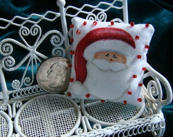 Dollhouse Miniature Pillow-Santa Claus