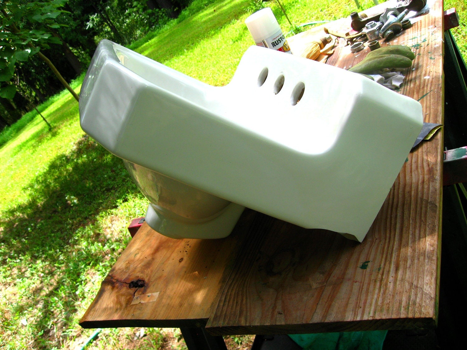 Vintage American Standard Wall Hung Bathroom Sink Retro