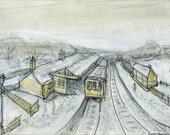 Snowy Stanhope Station, County Durham