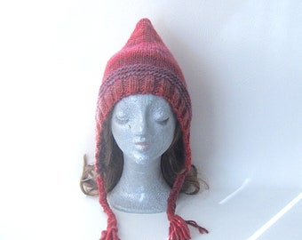 Pixie hat, multicoloured hat, teen hat, Winter hat, Winter accessories, uk hats, Women's hat, Winter accessories, cosy hat, knitted hat