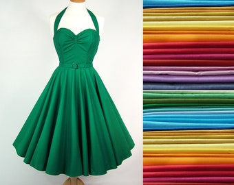 ANY COLOUR Made To Measure Full Circle Dress - Detachable Straps & Belt