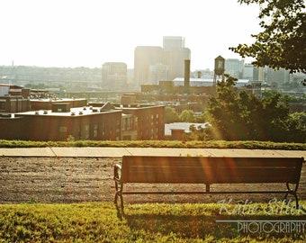 SALE Richmond Virginia Summer View of the City, Libbie Park Photo, Photo Art, Frame Available