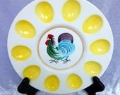 Deviled Eggs Rooster Plate