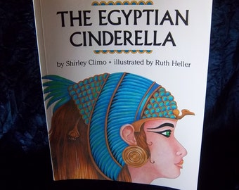 Exotic Book - The Egyptian Cinderella Paperback - Vintage Home Library - Reading Materials - Global - World - Cultural - Rare Ethnic Story
