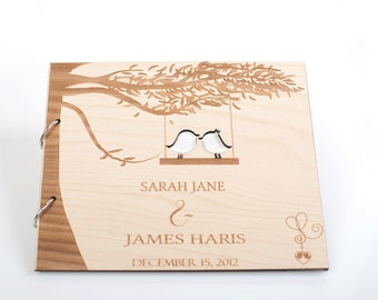 Wood Wedding Guestbook