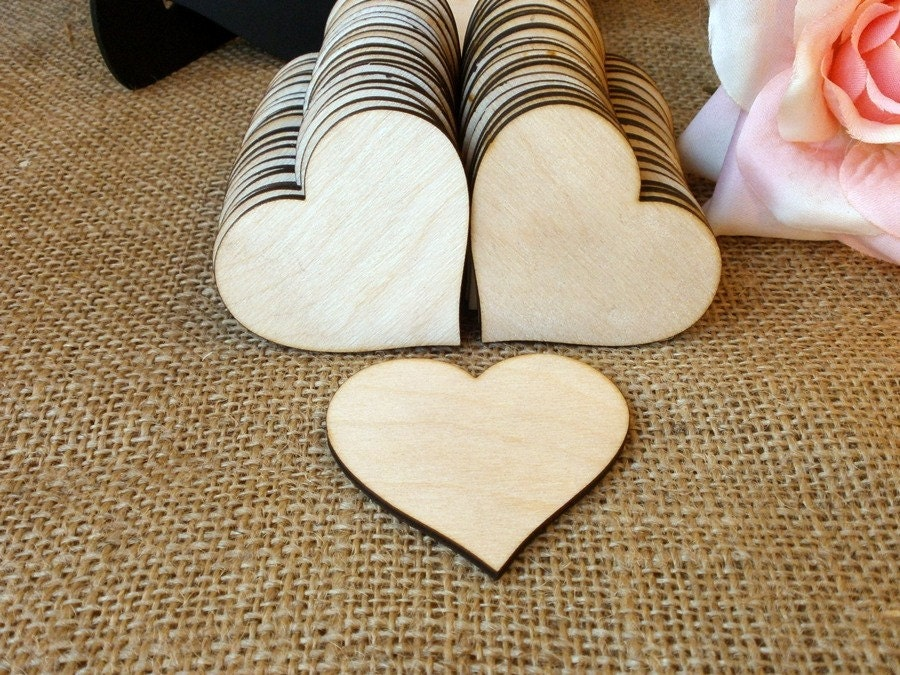 300 wooden hearts natural wood heart shaped gift tag wedding for Heart shaped decorations home