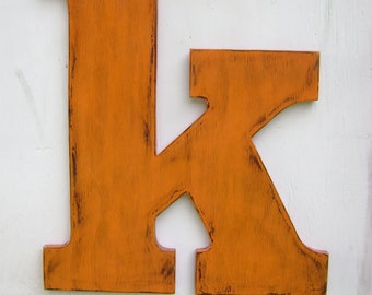 "Large wooden lowercase letter ""k""  wedding decor photo prop 24"" letter signs,baby nursey wall hanging decor"