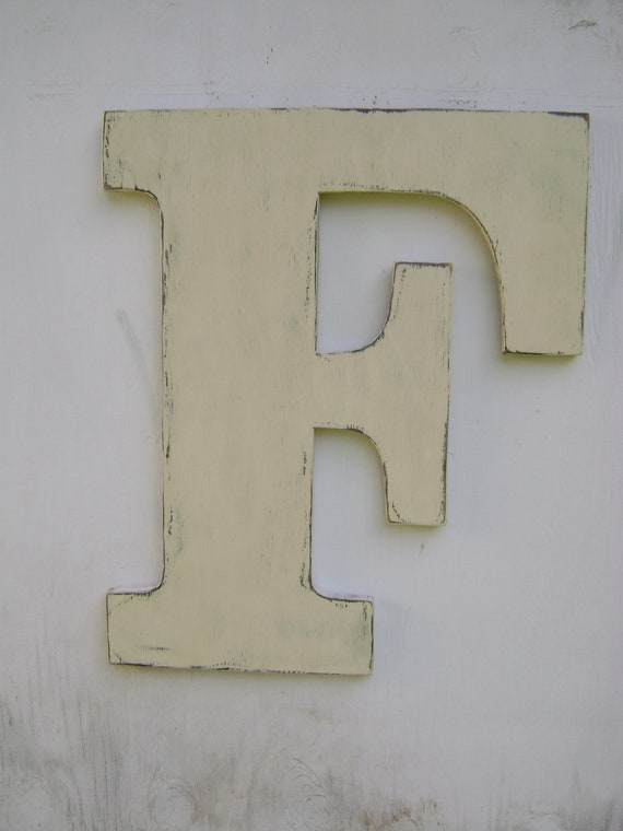 Rustic 2 foot large wood initial house warming gift baby nursery wall hanging decor home decor office decor