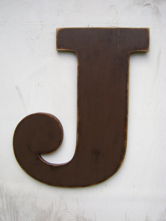 Items Similar To 2 Foot Rustic Wood Letter Wall Hanging