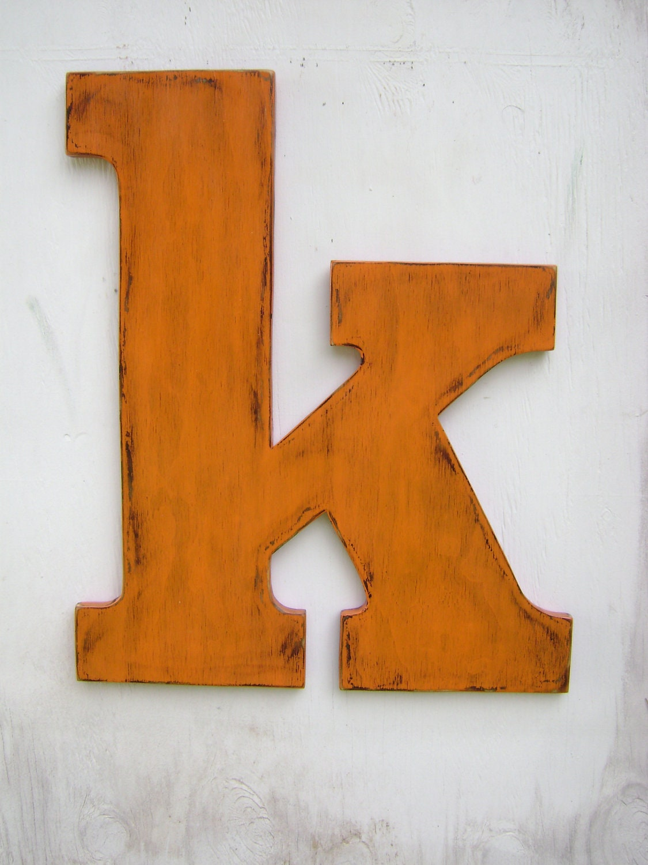 Large wooden lowercase letter k wedding decor for Large wooden letter k