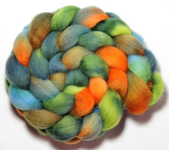 Handpainted Roving - Chameleon - Falkland Wool, 4 Ounces
