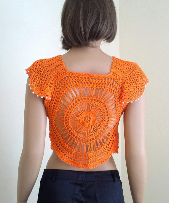 Crochet Sunshine Bolero, crochet summer bolero, womens clothing, womens bloero, girls bolero,  cotton bolero, in any colors