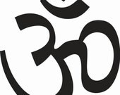 "Om symbol decal 4"""
