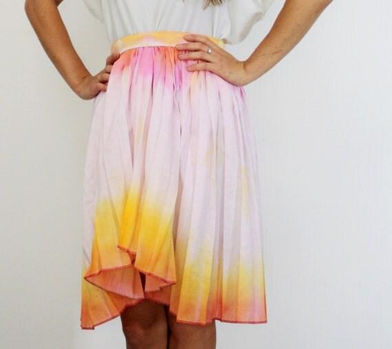 D A I K I R I /Neon Pink & Orange ombre skirt