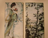 Tile Coaster Set (Chinese Paintings)