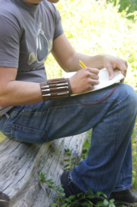 The Arm-Adillo  Pencil Case - Brown