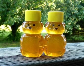 Raw Wildflower Honey, Honey Bear, Tennessee Wildflower 2 oz SAMPLER Raw Pure Honey