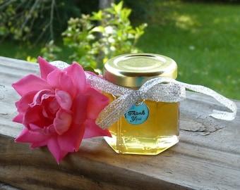 48 Wildflower Honey 2oz Jars, Wedding Favors, Raw Honey, Tennessee Wildflower Honey, Bridal Shower Party, Wedding Engagement Shower Charms