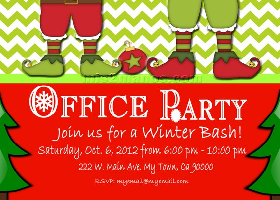 Christmas Office Party Invite Printable Personalized Season – Office Holiday Party Invites