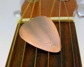 Handmade & Antiqued Copper Guitar Pick Great Gift!