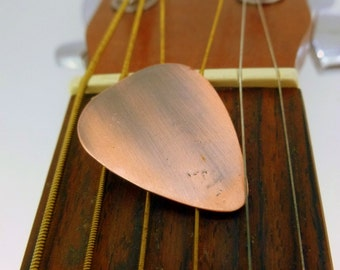 Handmade & Antiqued Copper Guitar Pick