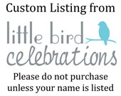 Custom listing for Rachel Bashkin