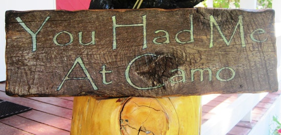 Montana Wooden Sign Weathered Camo Hunting Camoflauge FTTeam Rustic Country Made In Montana Military Cabin Lodge