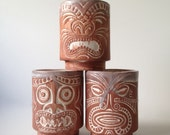 RESERVED Vintage Tiki Cups - Set of Three