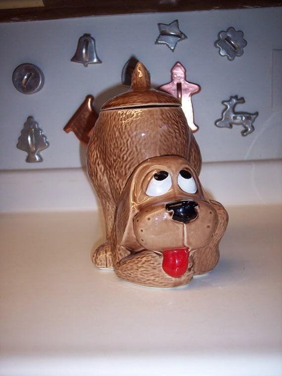 Vintage Mccoy Cookie Jar Thinking Hound Dog By Maandpasattic