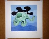 "Digital Inkjet Print - ""The Inky Octopus"""