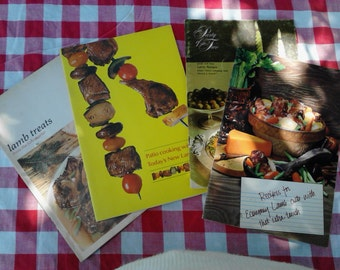"Four ""Cooking with Lamb"" Cookbooks ECS"