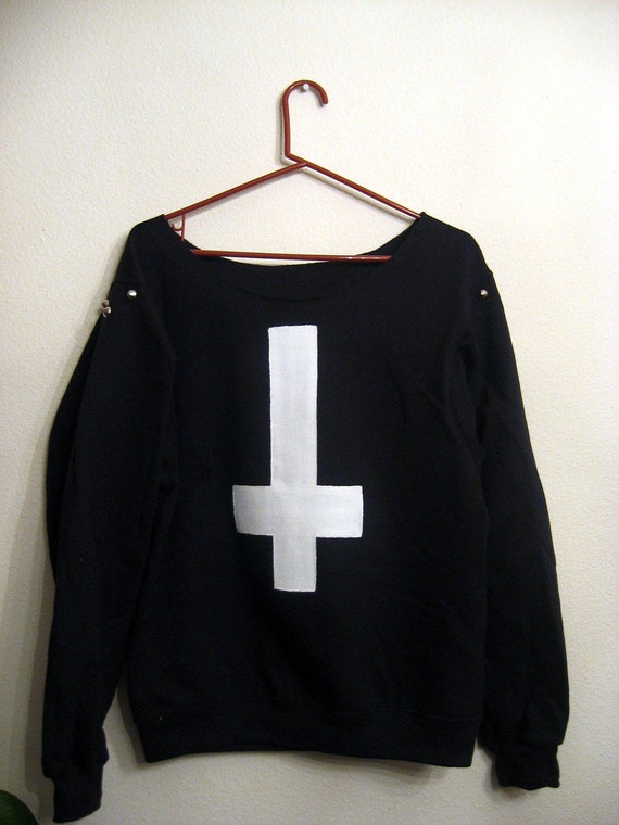 Black Inverted cross sweatshirt